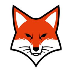 Fox head logo vector icon