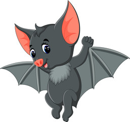 Bat cartoon waving