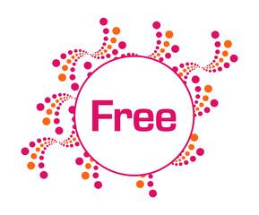 Free Pink Orange Abstract Dots