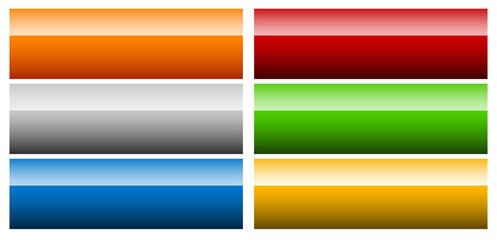 Set of banner, button background. Horizontal rectangular buttons