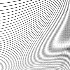 Simple dynamic lines pattern. Geometric pattern. Monochrome abst
