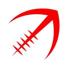 Stylized American Football logo vector icon