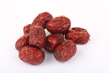Dates isolated on the white background