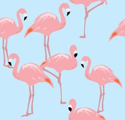 vector flamingo seamless background