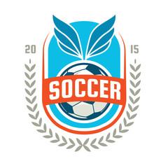 Football badge logo template design,soccer team,vector illuatrat