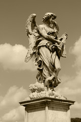 Rome,Italy,Ponte Sant'Angelo,Angel.