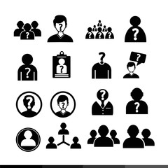 people icon illustration design