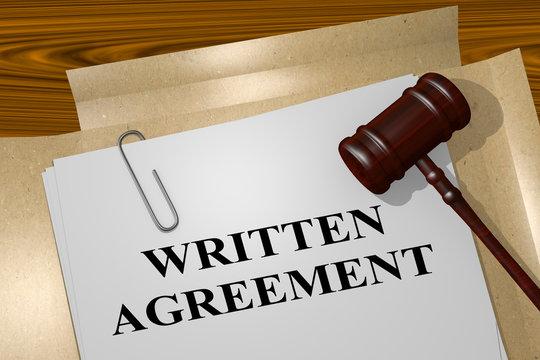 Written Agreement concept