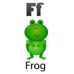 Alphabet letter F-Frog