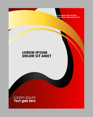 Flyer design poster background. Design layout template