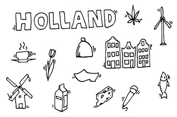 Holland icons set