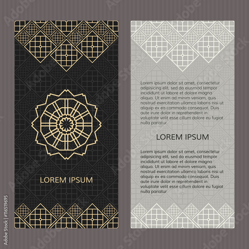 Set of two vector cards islamic design vector template booklet set of two vector cards islamic design vector template booklet concept template cards stopboris Images