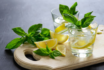 Lemon and basil drink