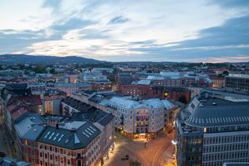 Norvegia, Oslo la sera, sky line