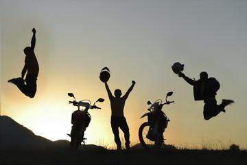 başarılı motorsiklet ekibi