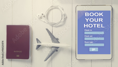 Online travel booking on tablet traveller using online for Tablet hotel booking