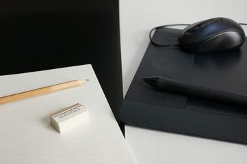 ノートとペンタブレット