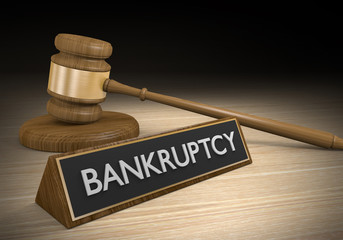 Laws dealing with bankruptcy and failure of financial institutions, 3D rendering