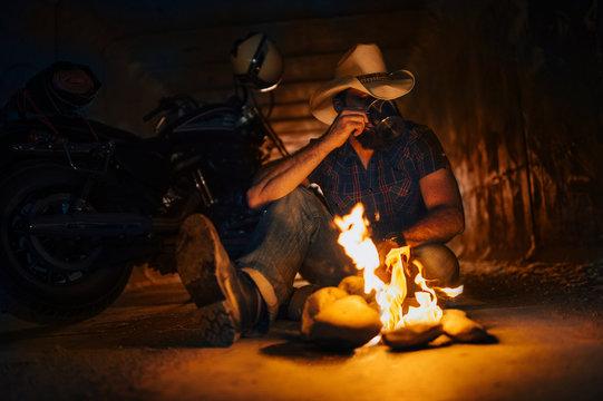 cowboy motorcycle.