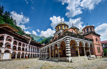 Rila monastery, a famous monastery in Bulgaria. Wall mural
