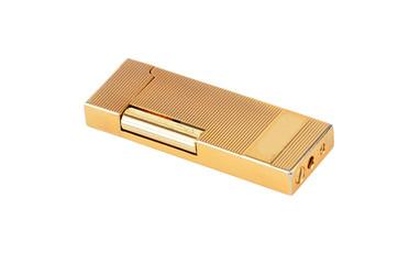 Golden gas cigarette lighter