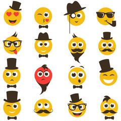 smiley faces in retro style