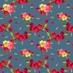 flowers rose red yellow
