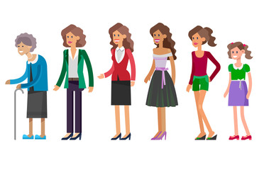Generations woman. All age categories