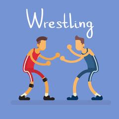 Wrestling Two Wrestler Opponent Sport Competition