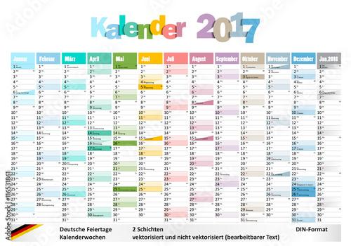 kalender 2017 mit deutschen feiertagen und kw 39 s stock image and royalty free vector files on. Black Bedroom Furniture Sets. Home Design Ideas
