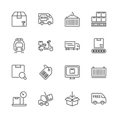 thin line iconset logistics 2