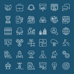 business white thin line iconset