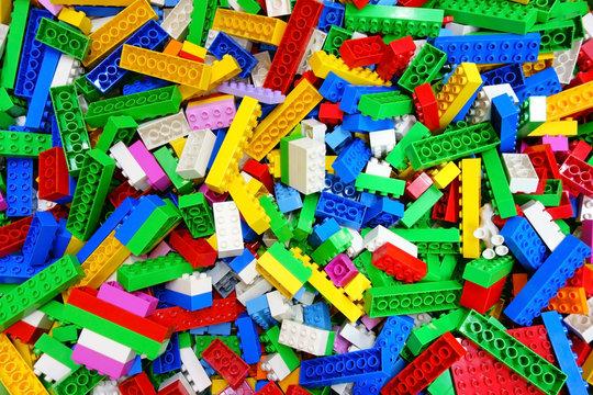 Heap Messy Toy Multicolor Building Bricks