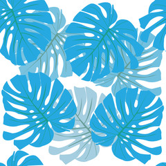 Tropical leaves. Floral design background