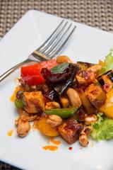 Thai Stir Fry spices Tofu with Cashew Nuts