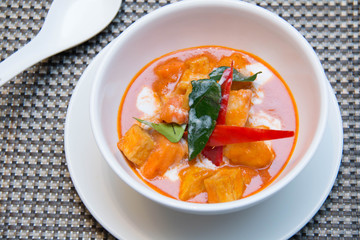 Delicious red curry thai vegetarian