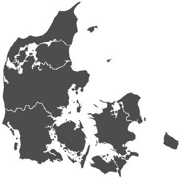 denmark danish map