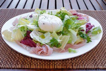 Fresh Italian salad with mozzarella
