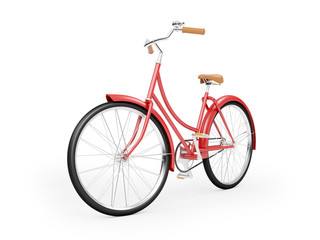 Aluminium Prints Bicycle red bicycle vintage