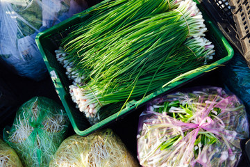 Green onions at the market
