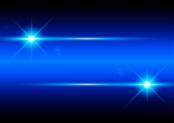 Element blue light with lens effect. illustration vector design