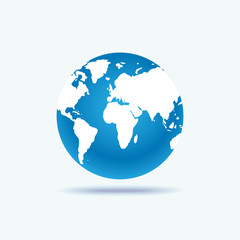 Wall Mural - Illustration of a world globe isolated on a white background