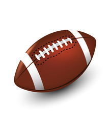 football on white background isolate vector illustration eps 10