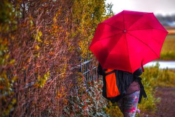 woman under an umbrella