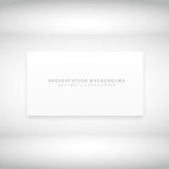 white presentation background