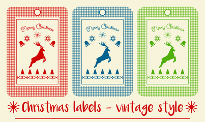 Christmas labels - vintage style