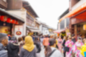 Japanese street market blur for Background