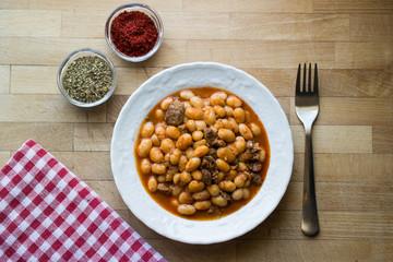 Baked beans / Kuru Fasulye / Turkish Food.
