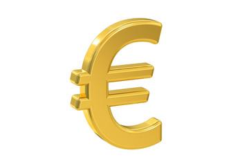 euro symbol, 3D rendering