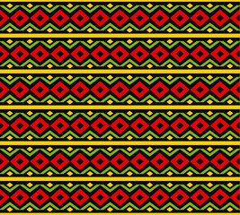 classic reggae color music background. Jamaica seamless pattern